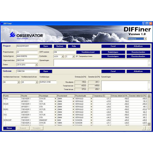 DIFFiner PC software