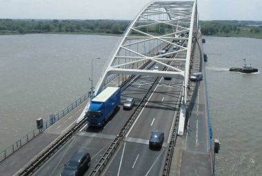Road monitoring on a bridge