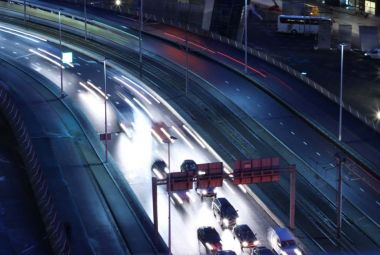 Road monitoring on an highway by midnight