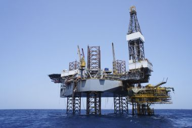 Offshore jack up drilling rig and the production platform