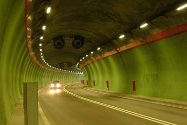 Road monitoring in a tunnel