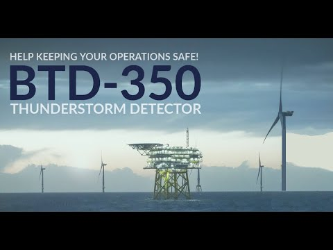 Keep your operations safe with the BTD-350 Marine Thunderstorm Detector – YouTube